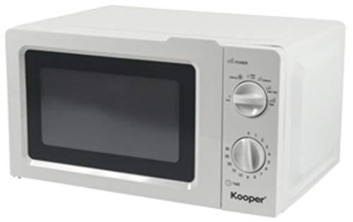 Kooper 2194555 Mikrowellen-Ofen, 20 Liter, Weiß, 700 W, Auftauen, 5 Programme, Timer