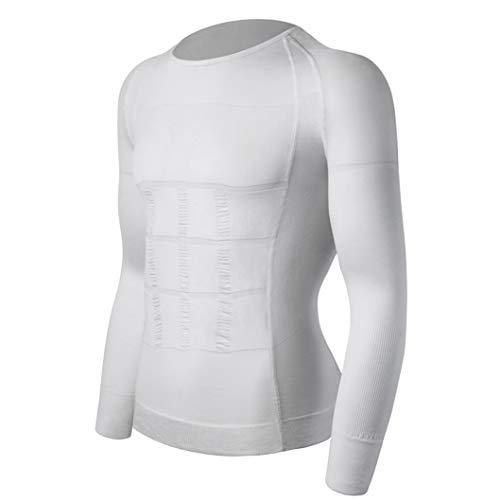 Jwans Camiseta Interior para Adelgazar para Hombre Body Shaper Abdomen Vientre Moldeado Postura correctiva Chaleco Compresión Camisas