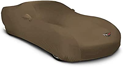 Includes Storage Bag MODA Stretch Kalahari Tan Indoor Car Cover for C5 Corvette 1997-2004 with C5 Logo