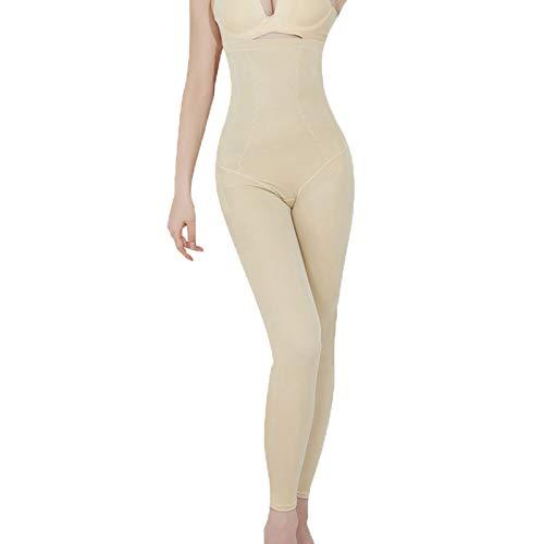 Naadloze Shapewear full body shaper met hoge taille Voor vrouwen, buik- en Hüftschlankheitshose, taille en been vorm broek,Beige,XXXL