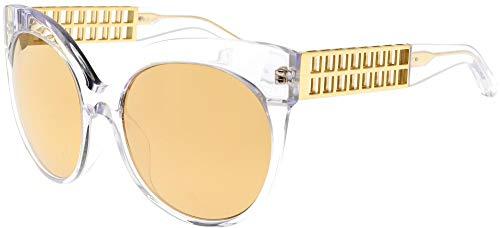 Linda Farrow Occhiali da Sole 388 CLEAR YELLOW GOLD CLEAR YELLOW GOLD/GOLD MIRROR 59/19/138 donna