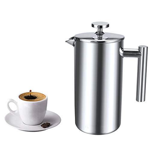 Kaffeedrücker aus Edelstahl, Kaffeebereiter, doppelwandig, isoliert, für Kaffee und Tee, hält Getränke heiß 350L