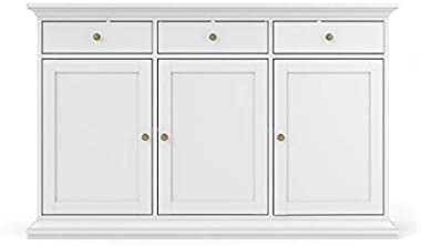 Tvilum Sonoma Sideboard with 3 Doors and 3 Drawers, White