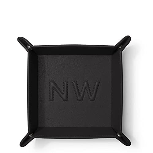 Leatherology Black Onyx Square Valet Tray