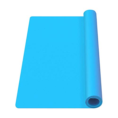 Mlife Extra Large 23.2' x 19.5' Silicone Sheet for Craft - Jewelry Casting Molds Mat, Epoxy Resin Painting Pad, Premium Silicone Mat, Nonstick Nonslip Heat-Resistant Durable, Blue