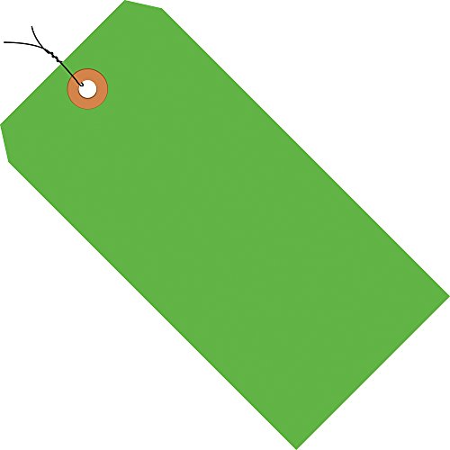 Aviditi Pre Wired Shipping Blank Tag, 13 Point Cardstock, 2-3/4