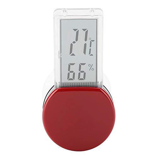 Reptile Thermometer und Hygrometer Digital Wasserdichte Thermometer und Hygrometer Batteriebetrieb Thermometer mit eingebautem Sensor für Terrarium Reptilien Terrarien(Rot)