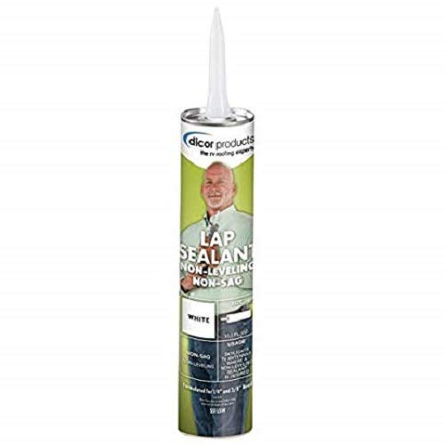Dicor - 551LSW-12 White Non-Sag Roof Lap Sealant - 10.3 oz. Tube