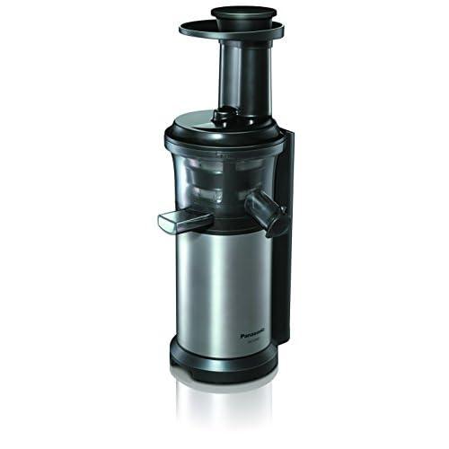 Panasonic MJ-L500 Slow Juicer Sistema di Estrazione, Senza Lame, Acciaio