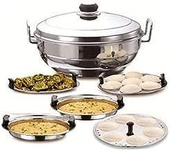 PLANET 007 Silver Stainless Steel Multi kadai, Dhokla Plate, Idli Plate, Steamer Plate patra/Multipurpose kadai