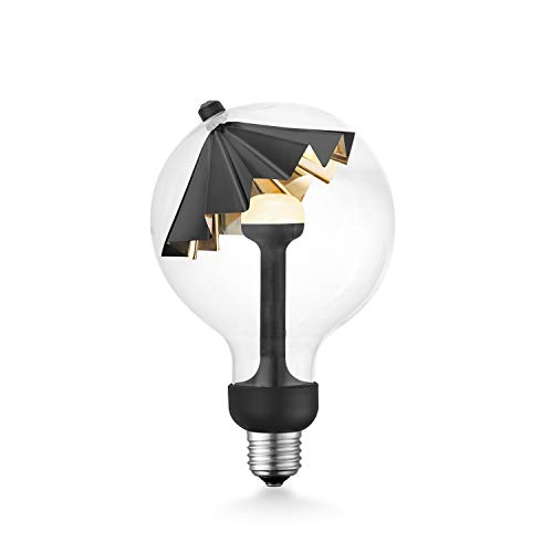Home Sweet Home Move Me LED lampe Umbrella Ø 12 cm 5.5W E27 2700K Dimmbar -  Schwarz/gold