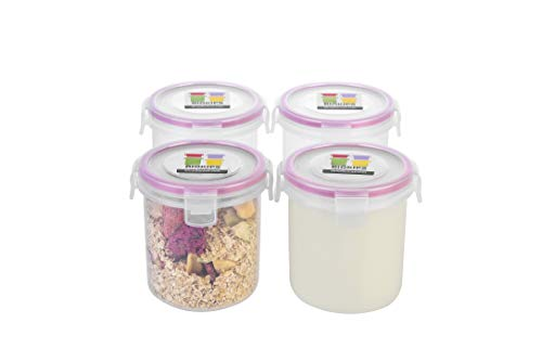 Komax Biokips Overnight Oats Container | (Set of 4)