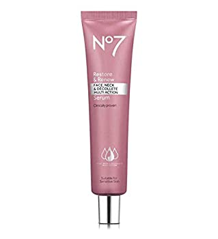 No7 Restore and Renew Face and Neck Multi Action Serum 1.69 fl oz