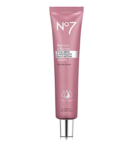 Boots No 7 Restore & Renew Face & Neck MULTI ACTION Serum, ***Large 50 ml***