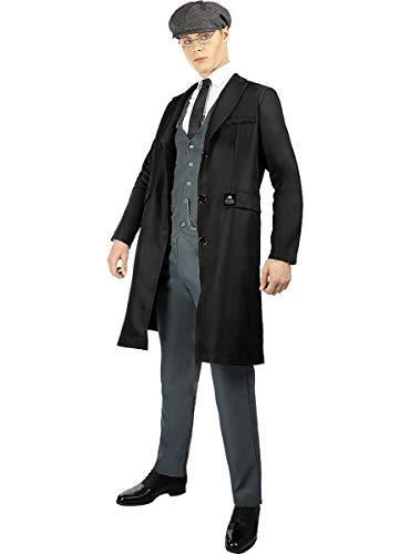Funidelia | Disfraz de Tommy Shelby - Peaky Blinders para Hombre Talla XL ▶ Años 20, Películas & Series, Gangster - Color: Negro - Divertidos Disfraces y complementos