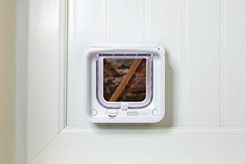 SureFlap Microchip Cat Flap Connect with Hub - DualScan, WiFi link and App Controlled, White