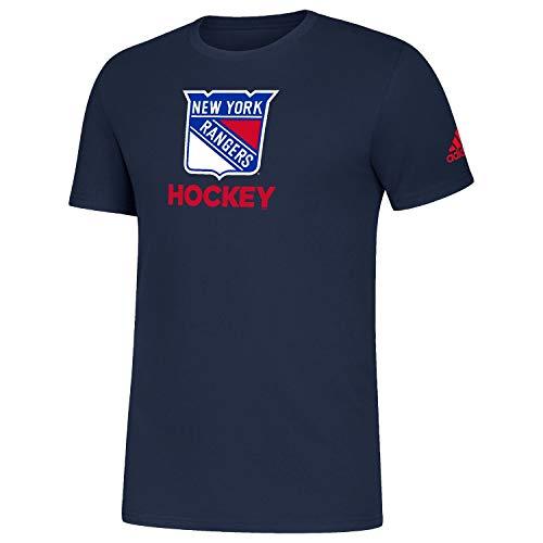 adidas New York Rangers 2019/20 NHL Hockey Amplifier T-Shirt Navy, S