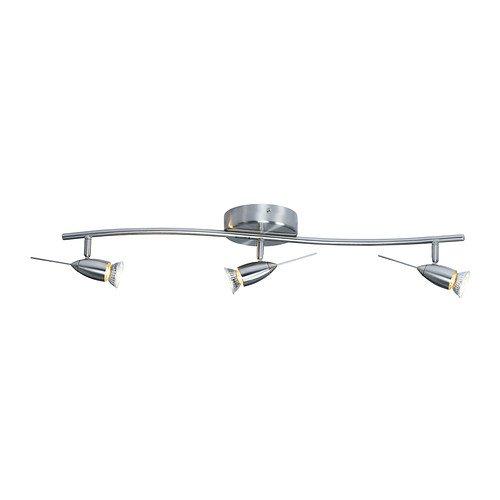 IKEA(イケア) HUSINGE シーリングトラック スポットライト3個 ニッケルメッキ