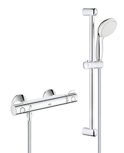 GROHE 34565001 | Grohtherm 800 Thermostatic Shower Set