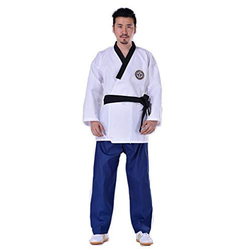 B2KEY® Ropa deportiva Taekwondo Karate Traje Aikido Adultos Traje de Taekwondo Uniforme de Taekwondo para niños Traje de entrenamiento de artes marciales Judo Ropa de Taekwondo (1,130)