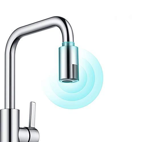 ALLOMN Rubinetto Intelligente, Adattatore Rubinetto Touchless Dispositivo di Risparmio Idrico Adattatore per Economizzatore D'acqua con Sensore a Infrarossi Ugello per Rubinetto M22 M24 Adatto