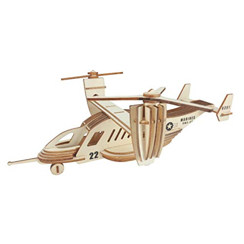 Construction Kit 3D Wooden Puzzle Kits, Construction Kits 3D Wooden Jigsaw Puzzle Wooden Model Kits DIY Toy Gift For Kids, Teens and Adult (Osprey Fighter)
