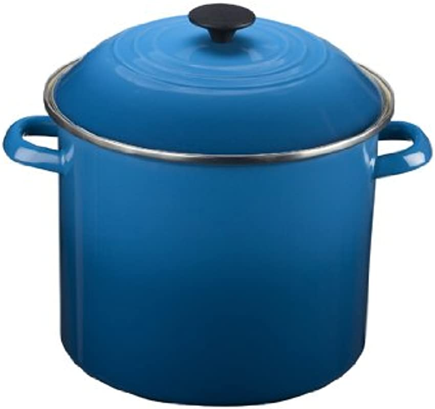 Le Creuset Enamel On Steel Covered Stockpot 10 Quart Marseille