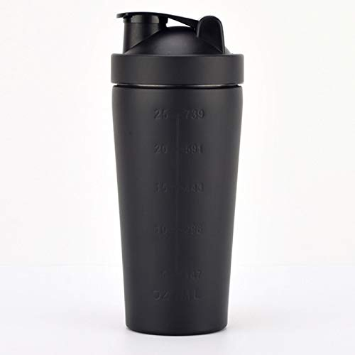 BECCYYLY Protein Shake Flask Single Detachable Protein Powder Shaker Bottle Stainless Steel Sport Fitness Metal Water Thermal Cup Blender Vacuum