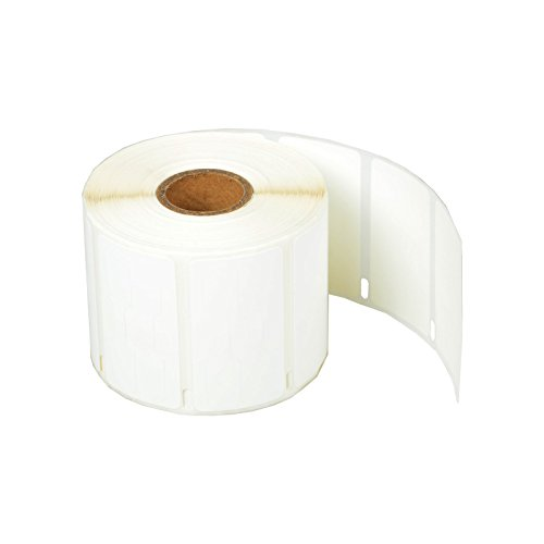 "SuperInk [1 Roll, 1500 Labels/Roll] White Self-Adhesive Jewelry Price Tag 2-up Labels Barbell Style Compatible for Dymo 30299 3/8"" x 3/4"" use in LabelWriter 300 310 450 Duo 4XL Printer,BPA Free"