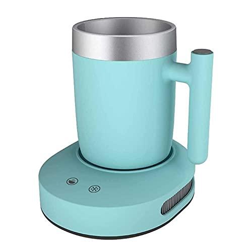 UOOD Kaffeewärmer Becher Cooler Desktop 2 in1, Kaffee Tee Getränke Becher Wärmer oder Kühler Desktop, Heizung & Kühlung Getränkeplatte Für Wasser, Milch, Bier, Kakao (Color : Green)
