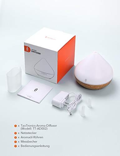 Aroma Diffuser 300ml TaoTronics Luftbefeuchter Oil Düfte Humidifier Holzmaserung LED mit 7 Farben für Yoga Salon Spa Wohn-, Schlaf-, Bade- oder Kinderzimmer Hotel - 8