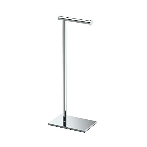 Modern Square Base Tissue Holder Stand, 21.25', in Chrome