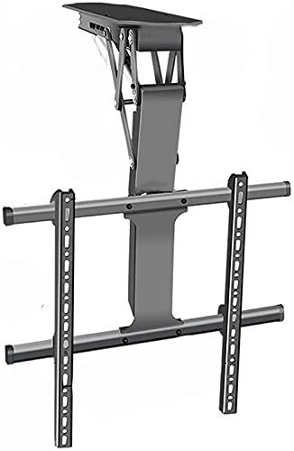 Soporte para TV Soporte universal para TV de techo 32 '-70' Suspensión de elevación eléctrica inteligente El brazo cilíndrico gira sobre un eje se inclina con Max VESA 600x400mm, soporta hasta 88 Lbs