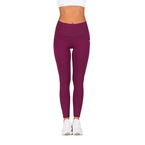 Ultrasport Damen Advanced Sport-leggings Silhouette Mit Shape-funktion, Beere, M