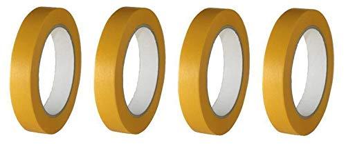 4 Rollen Maler Goldband Finelinetape Malerkrepp Abdeckband Washi Lack (4 Rollen 18mm x 50m)