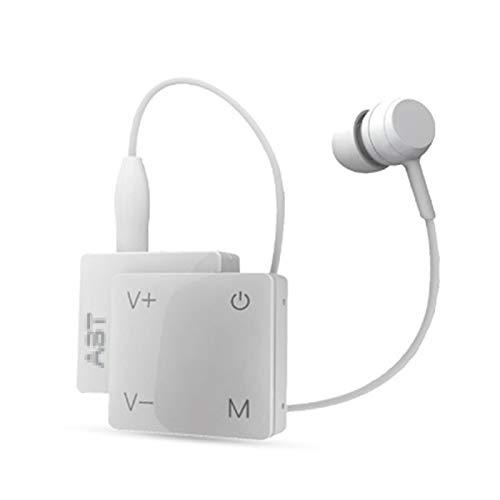 Y-Rachael Audifonos para Sordera Mayores Cuadro Tipo De Carga De Sonido Monoaural Amplificador De Auriculares Digital De Reducción De Ruido Inteligente Desgaste Portátil