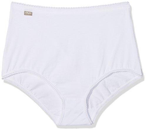 Playtex Damen Cherish Cotton Maxi X2 Hipster, Weiß (Blanco), (Herstellergröße: Large) (2er Pack)
