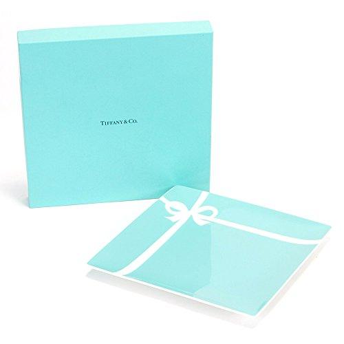 【名入れ対応可】ティファニー TIFFANY&Co ブルー ボックス プレート ボーンチャイナ 食器 (名入れなし)