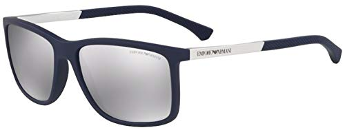 Emporio Armani 0Ea4058 Gafas de Sol, Dark Blue Rubber, 57 para Hombre