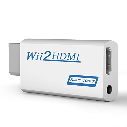 Wii to HDMI Converter, Wii to HDMI Adapter 1080P 720P, Output Video Audio Adapter HDMI Converter with 3.5mm Audio Jack&HDMI Output Supports All Wii Display Modes