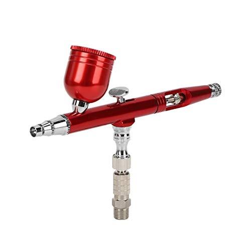 Aerógrafo Pen Pistola de pulverización neumática Pintura portátil Pistola de aerógrafo para publicidad Camisetas Pintura Dibujo (rojo)
