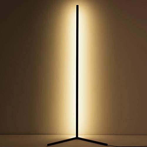 JAKROO Dimmable Corner Floor Lamp - Brightness Stepless Dimmable Floor Lamp Adjustable Floor Lamp Colourful Atmosphere Light - 140CM,Schwarz