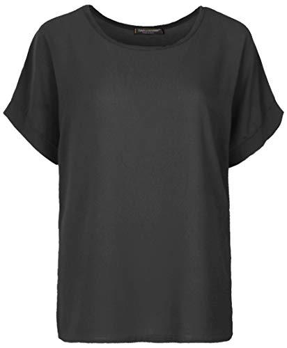 Emma & Giovanni - T-Shirt/Oberteile Kurzarm Segelstoffe - Damen (Schwarz, XL-XXL)
