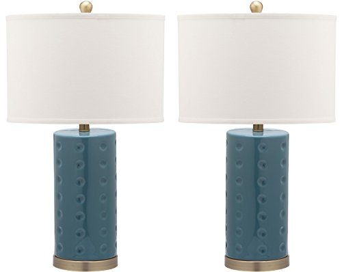 Safavieh Lighting Collection Roxanne Blue 26-inch Table Lamp (Set of 2)