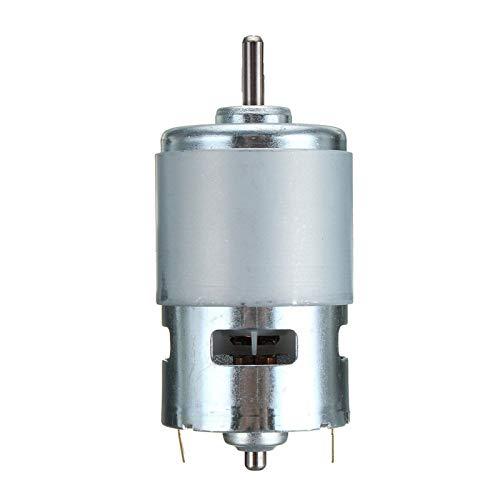 Lruirui-Motor DC 775 DC Motor, rodamiento de Bolas Torque Grande de Alta Potencia de bajo Rendimiento, Motor de componentes electrónicos, Larga Vida útil (Speed(RPM) : 35000, Voltage(V) : 12V)