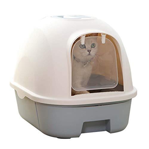 Katze-WC-Wurfkiste, die vollständig extra groß mit Deckel eingeschlossen ist,...