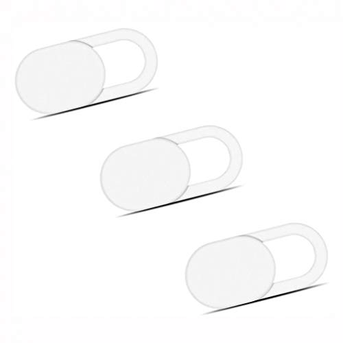 Privacy Camera Cover Security Blocker Webcam Closure White Compatible...