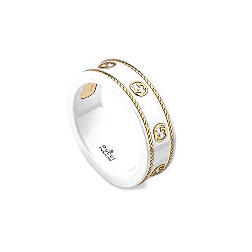 Gucci icon ring yellow gold zirconia SIZE L