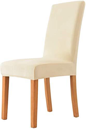 Morwealth Stuhlhussen Stretch Universal 4er Set Esszimmerstühle Elastischer Stuhlbezug Waschbar Stuhlbezug Hussen Sitzfläche für Esszimmer Wohnkultur Hochzeit Deko