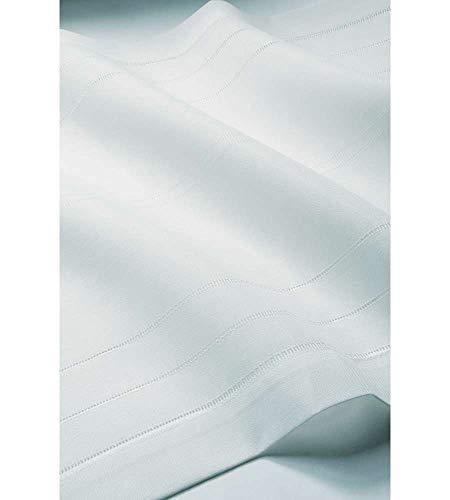 Home Collection TCMOM115/150 Tendina Coppia Momo, Poliestere-Cotone, Bianco, 60x150 cm, 2 Unità
